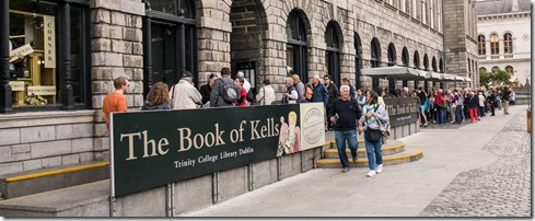 Waiting to get into the Book of Kells