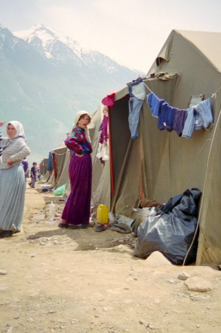 A refugee camp in Northern Albania