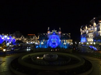 Casino Square in Monte Carlo makes a magical scene dressed for Christmas.