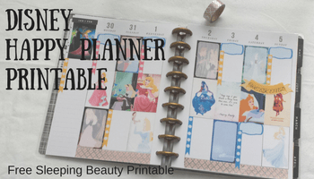 Disney's Sleeping Beauty Happy Planner Printable Sticker Set | Making My Home Happy