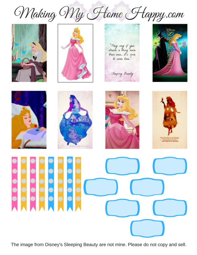Sleeping Beauty Happy Planner Printable