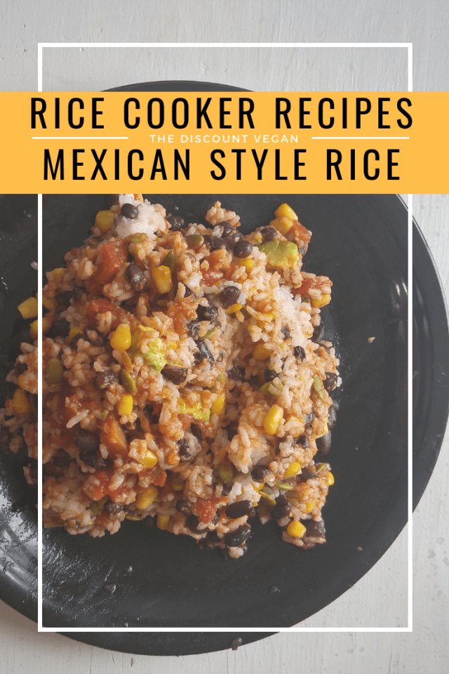 Rice Cooker Recipes - Budget Friendly Vegan Recipes - One Pot Recipes - The Discount Vegan