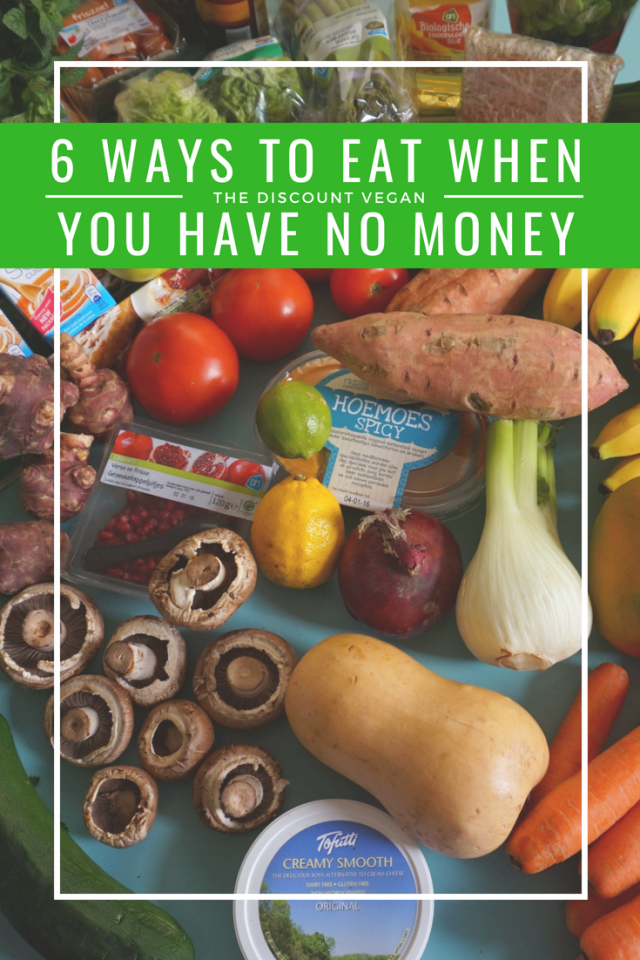 ways to eat when you have no money - how to eat whe you have no money - how to eat healthy when you have no money - living vegan with no money - The Discount Vegan