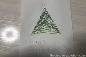 紙刺繍でクリスマスツリーを作ろう