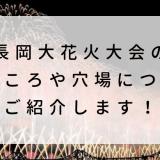 長岡大花火大会2019の見どころや穴場についてご紹介します!