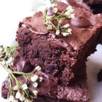 Fudgy Buckwheat Brownies