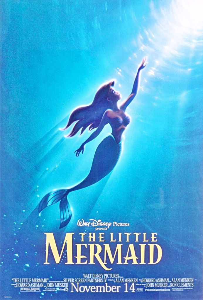 1989 The Little Mermaid poster