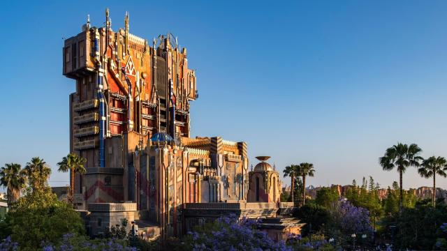 Image of the show building for Guardians of the Galaxy Mission Breakout in Disney California Adventure
