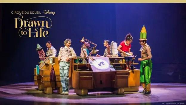Drawn to Life, Cirque du Soleil, Disney