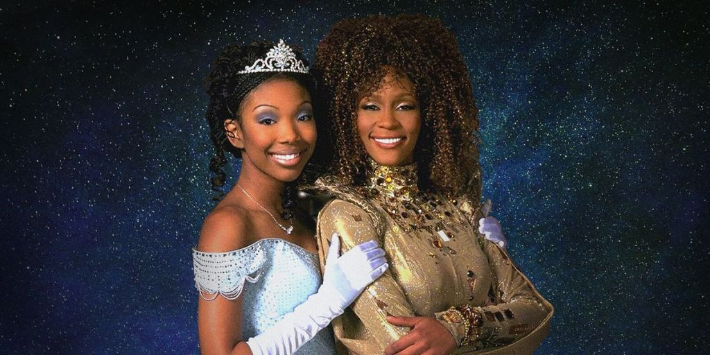 Brandy and Whitney Houston in a publicity shot for the movie.