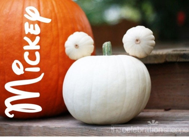 Disney diy halloween decorations the disney driven life for How to paint a mickey mouse pumpkin
