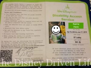 Disability Access Card
