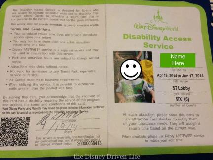 Disability Access Card DAS