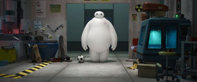 """""""BIG HERO 6"""" MEET BAYMAX — A robot named Baymax befriends robotics prodigy Hiro Hamada, and together—along with an unlikely band of high-tech heroes—they race to solve a mystery unfolding in the streets of San Fransokyo. """"Big Hero 6"""" is in theaters Nov. 7, 2014. ©2014 Disney. All Rights Reserved."""
