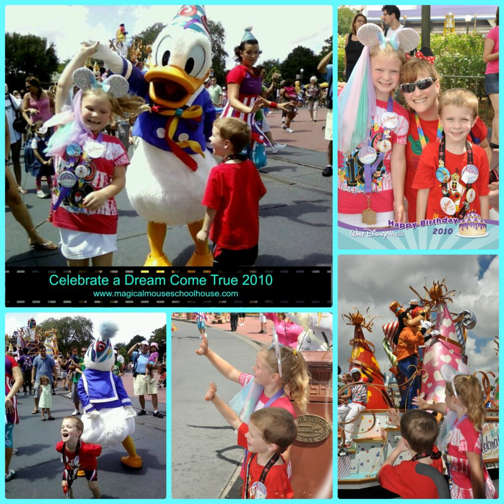 Whisenhiunt family Disney parade collage