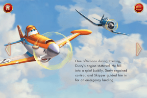 Planes 2 app - story page