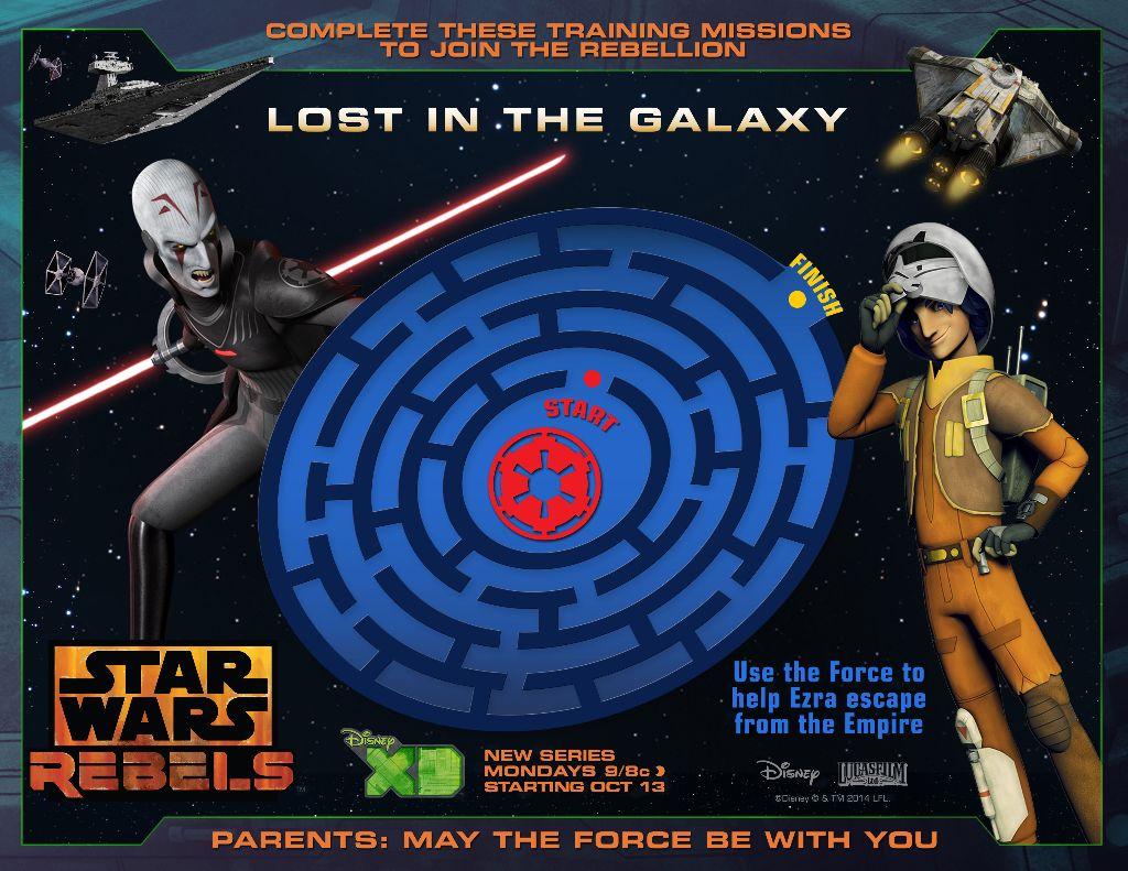 Galactic Maze star wars rebels printable
