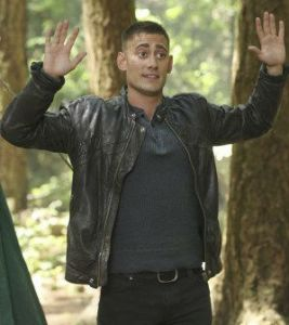 "Michael Socha (the Knave of Hearts from ""Once Upon a Time: Wonderland"") returns to the ""Once""-iverse as Will Scarlet.  All photos via ABC Television."
