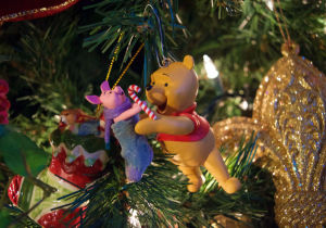 Pooh and Piglet Christmas ornament