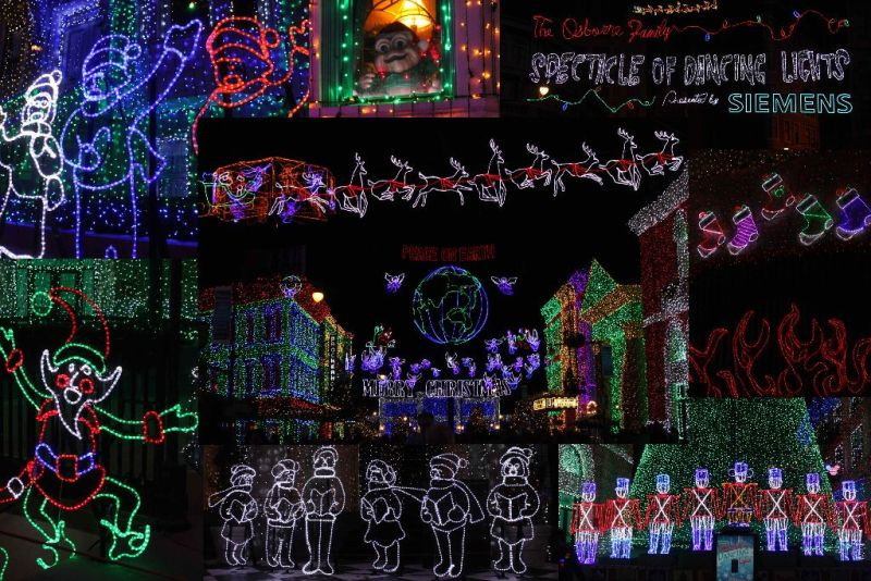 Osborne Spectacle of dancing lights wordless wednesday