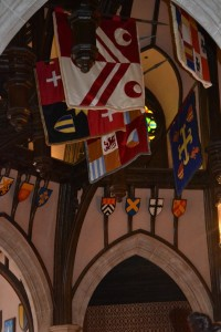 An example to the flags and coats of arms at Cinderella's Royal Table.