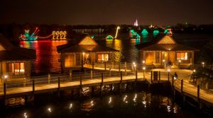 The Bora Bora Bungalows atÊDisney's Polynesian Villas & Bungalows: Electrical Water Pageant