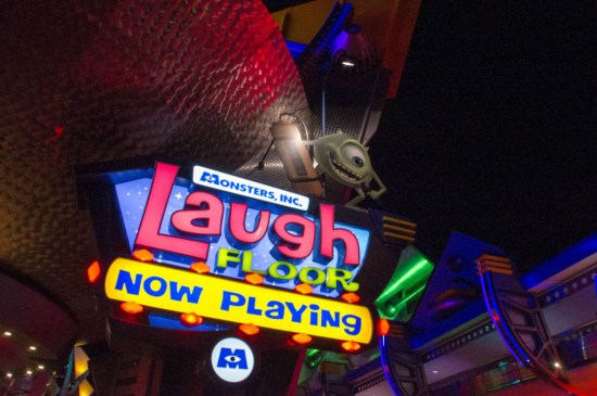Laugh Floor Marquee. I like the neon.