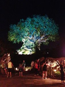 The Tree of Life by night.