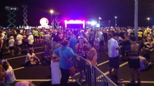 The Animal Kingdom parking lot, the day of the 5k race.