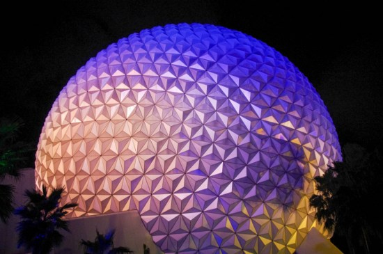 Spaceship Earth - night shot