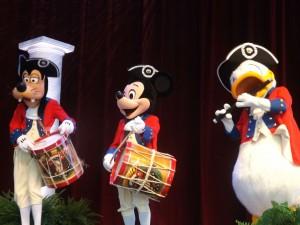 Mickey Mouse Donald Duck Goofy Patriotic