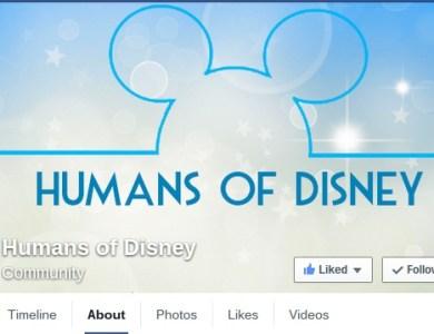 humnas of disney facebook page