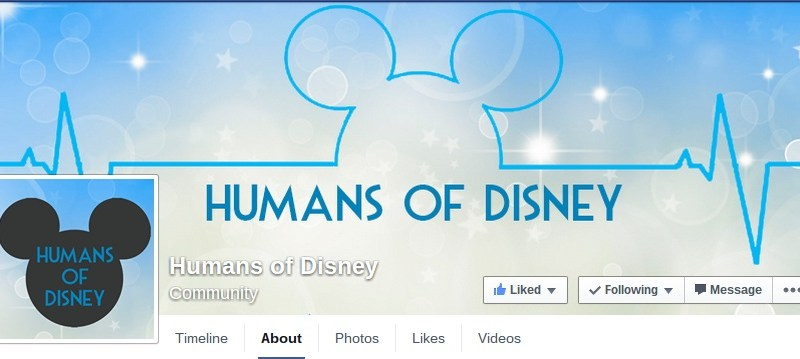 humnas of disney facebook page