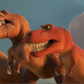 A trio of t-rexes good dinosaur - d23