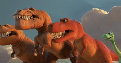 A trio of t-rexes good dinosaur - d23