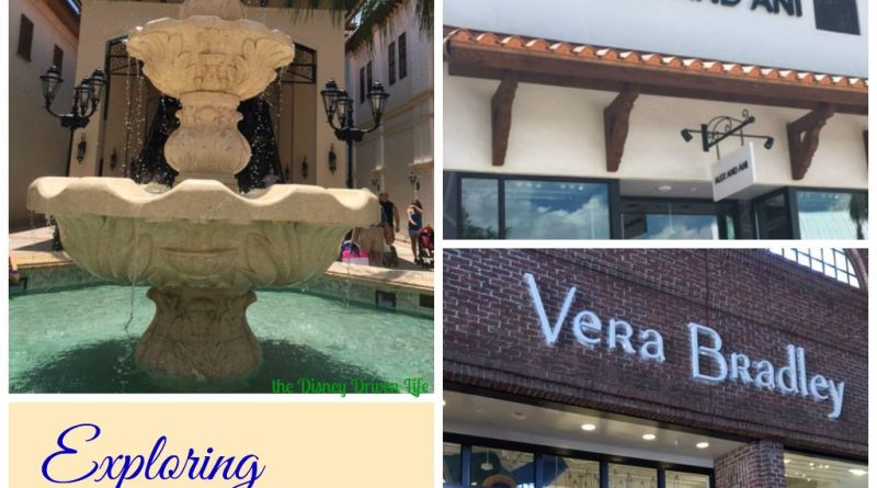 Disney Springs - alex and Ani Vera Bradley feature