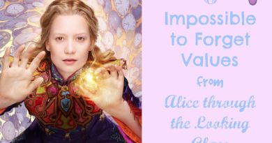 6 Impossible to Forget Values from Alice through the Looking Glass