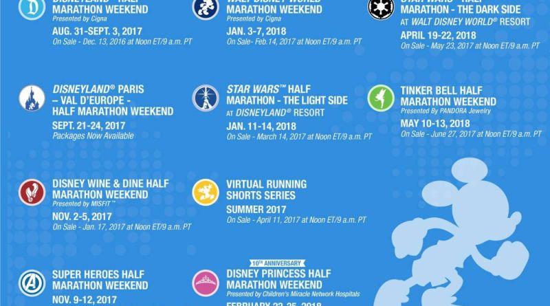 runDisney Event Calendar 2017-18