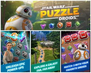 Star Wars Puzzle Droids Collage