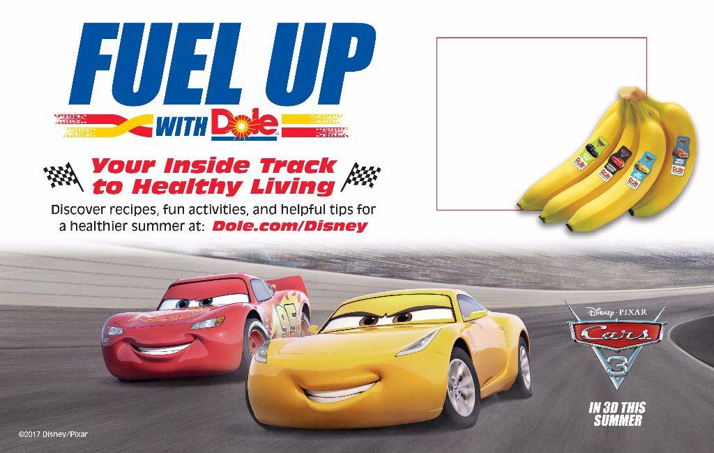 DOLE Bananas Price Card cars 3 fruit & veggies