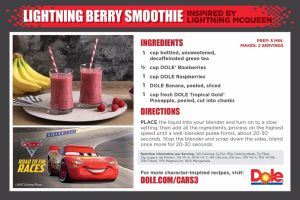 Lightning Berry Smoothie -Recipe Card