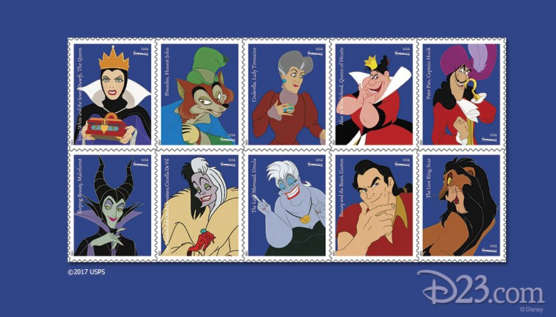 disney villain stamps
