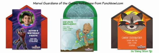 Marvel Guardians of the Galaxy Punchbowl Invitations