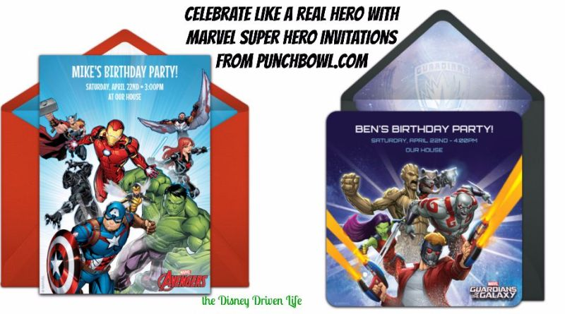 Marvel Super Hero Invitations Punchbowl