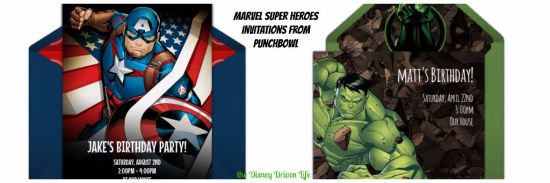 Marvel Super Heroes Invitations Punchbowl