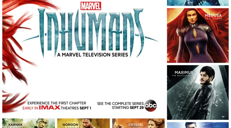 Marvel Inhumans Character Posters