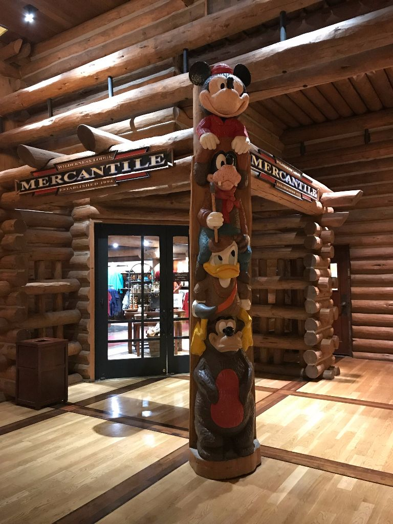 Wilderness Lodge Mercantile Totem Pole the Disney Driven Life