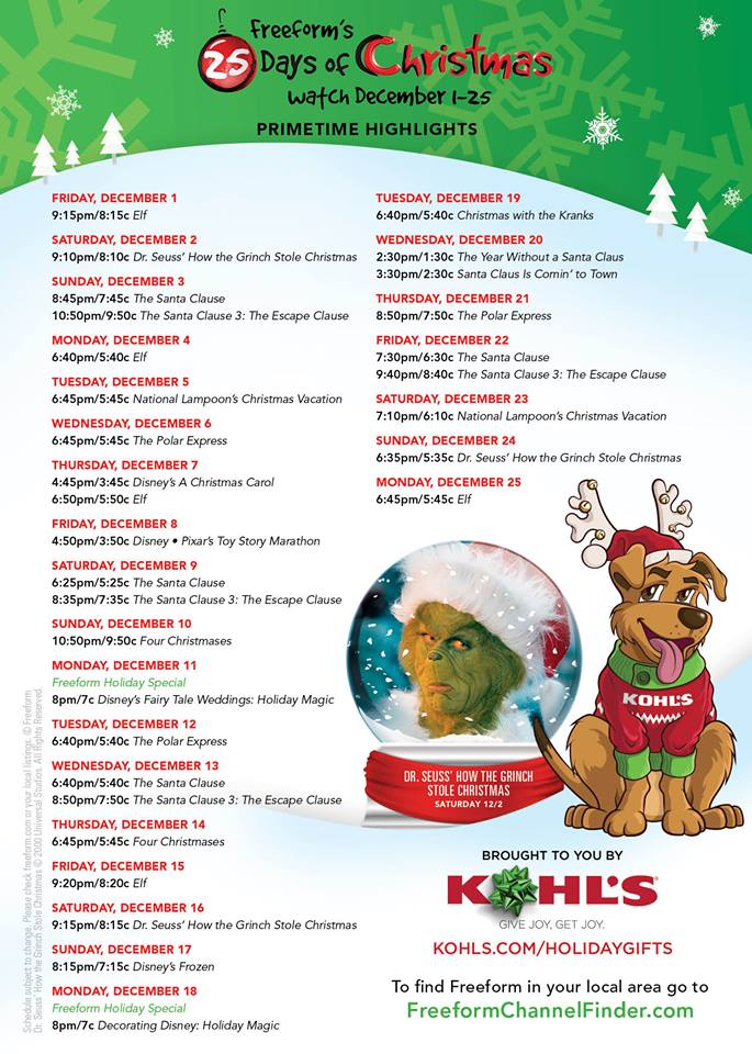 Image Result For Abc Family Christmas Movies List