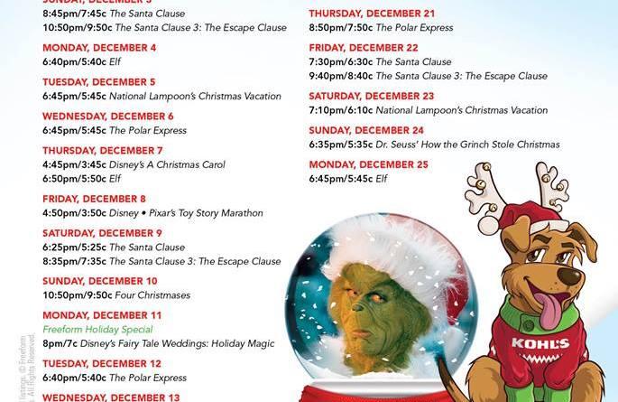 25 days of christmas freeform