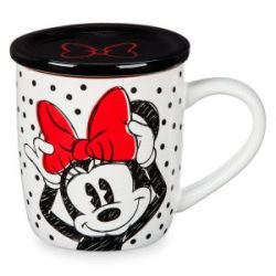 Minnie Mouse Polka Dot Mug with Lid